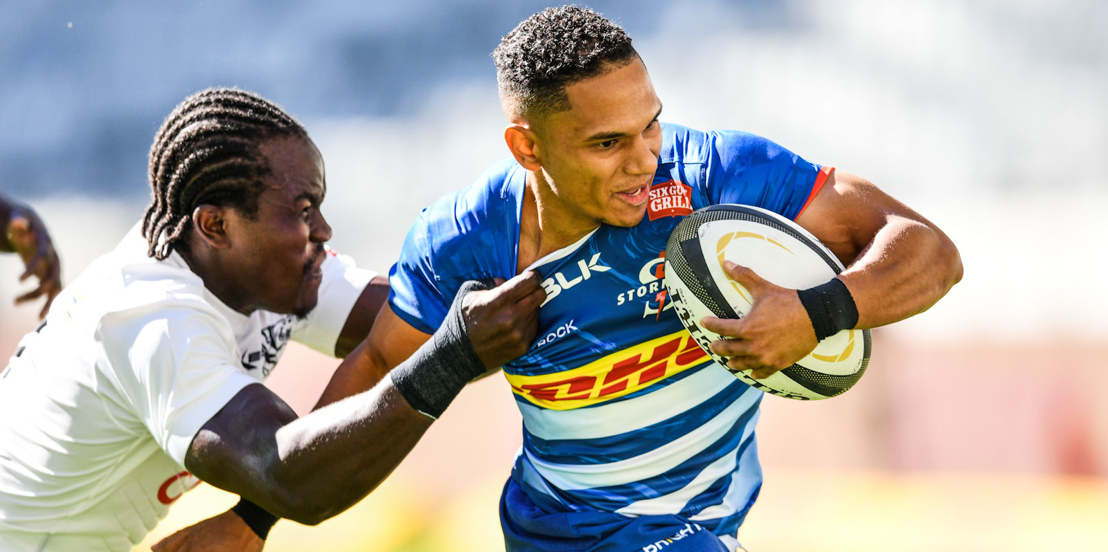 Herschel Jantjies scored the first PRO14 Rainbow Cup SA try.